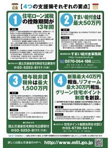 住宅支援を応援4つの支援策